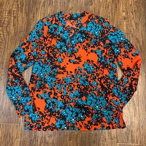 The Limited floral popover blouse size medium
